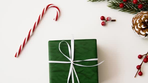 Thumbnail for Christmas Gift and Decorations on White Background