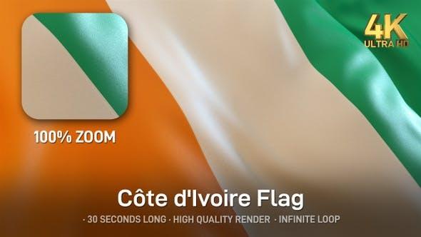Thumbnail for Ivory Coast Flag - 4K
