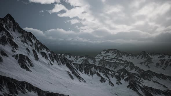 High Altitude Peaks and Clouds