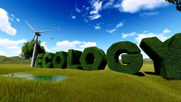 Thumbnail for Ecology Grass 3D Text