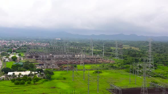 Thumbnail for Electrical Substation, power Station, Aerial View