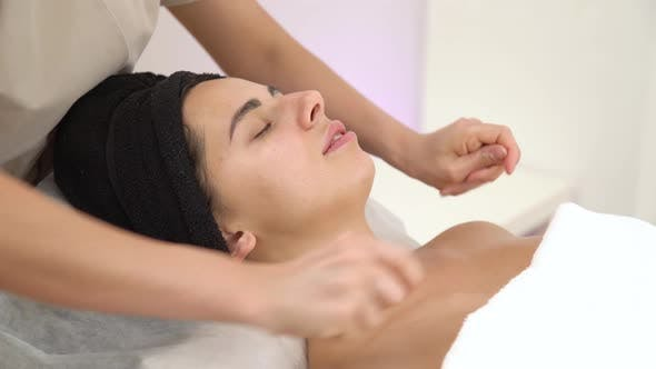 Spa Woman Facial Massage