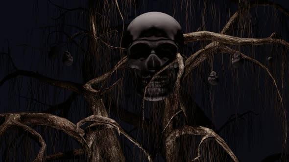 Thumbnail for Spooky Skull Tree