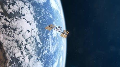 Die Internationale Raumstation im Orbit des Planeten Erde