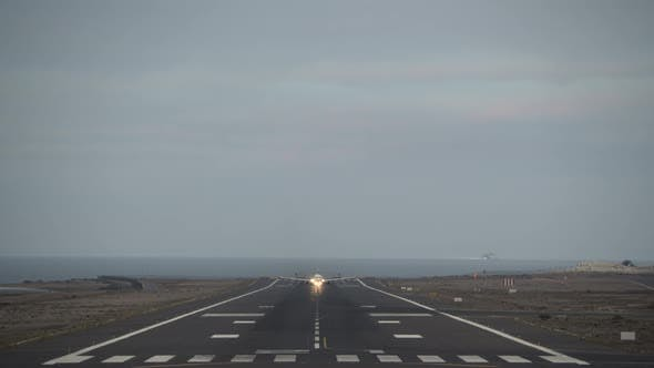 A Taking Off Airplane