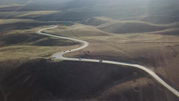 Mountain Road in Chechen Republic North Caucasus Russia