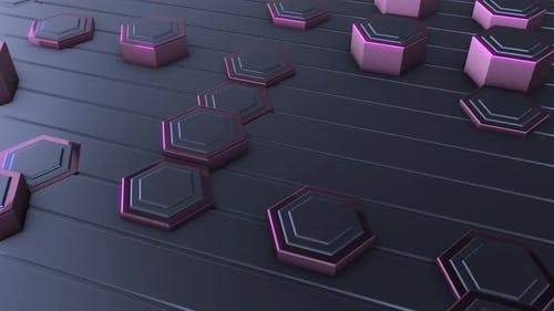 4K Purple Hexagonal Background Close Up
