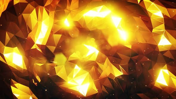 Thumbnail for Simple Gold Polygon Background 4k