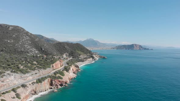 Coastline at sunny summer day, Alanya, Turkey