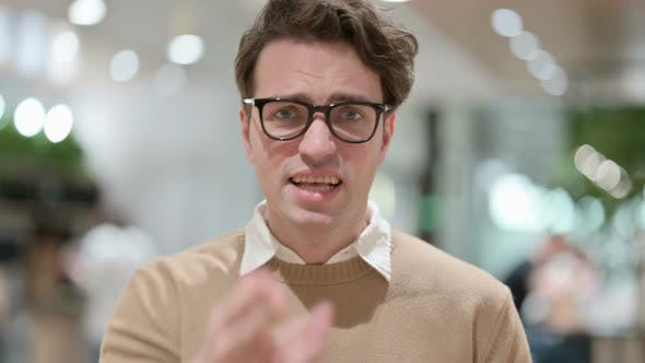 Attractive Young Male Designer Fighting Arguing