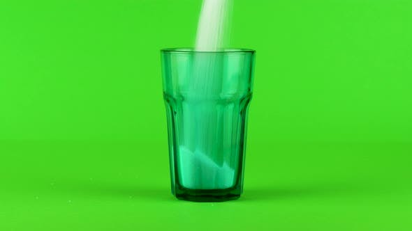 Thumbnail for Pour Sugar Green Collins Glass Thick Bottom Green Contrasting Background Concept