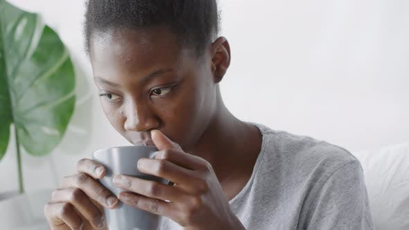 Thumbnail for Woman Having Cup of Refreshing Coffee