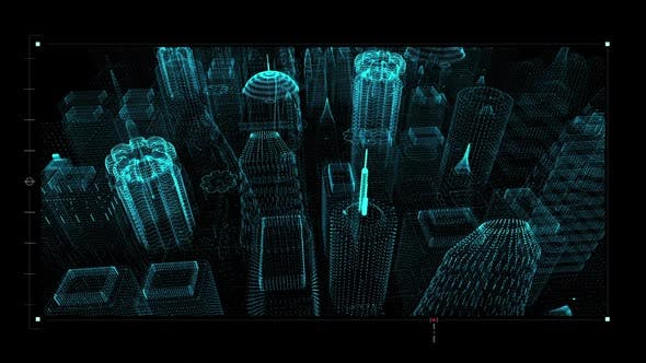 Thumbnail for Futuristic HUD Holographic Digital Cyber City