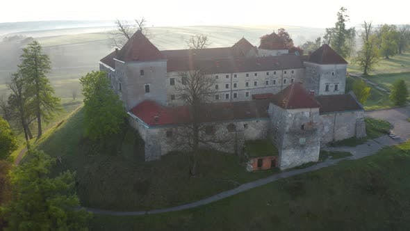 Thumbnail for Aerial View of Svirzh Castle Near Lviv, Ukraine at Dawn