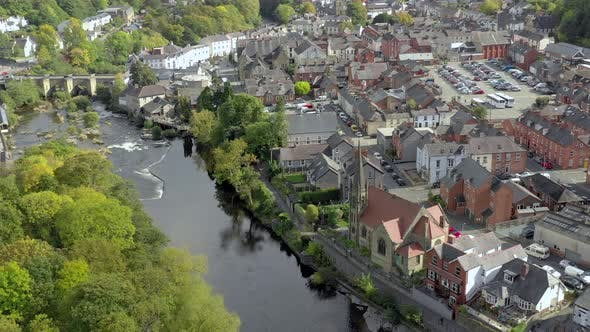 Thumbnail for Old Church and River in Llangollen Wales