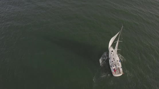 Aerial Over Yacht Boat 2