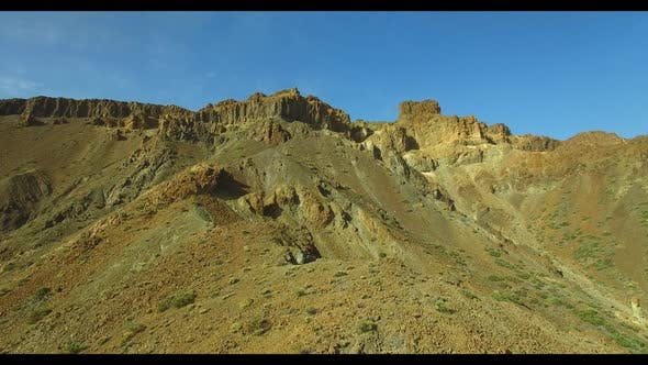 Thumbnail for Aerial drone shot close to a mountaintop in the volcano 51 Full Hd
