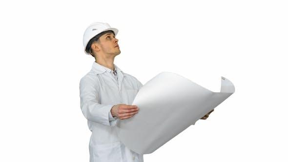 Thumbnail for Schöner Ingenieur Architekt, Baumeister, Geschäftsmann, tragen
