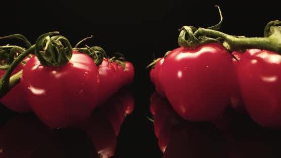 Thumbnail for Red tomatoes super mega macro close up