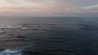 Bali Nusa Dua Beach Sunrise Panorama