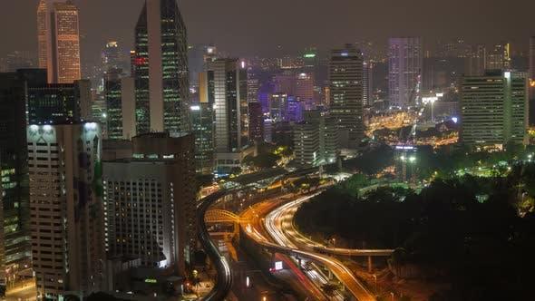 Thumbnail for Skyline Night Kuala Lumpur with Traffic