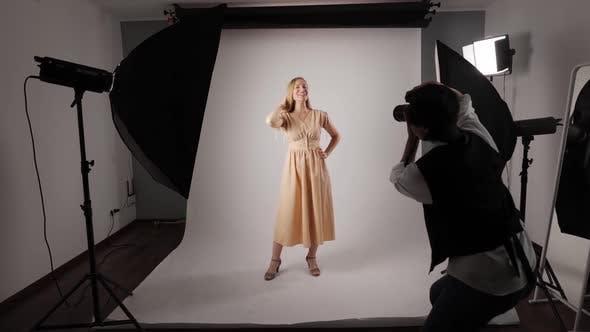 Shooting Process at Photo Studio