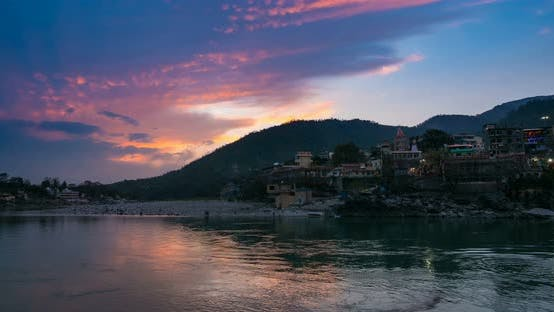 Thumbnail for Time lapse at Rishikesh, holy town and travel destination in India