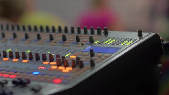 Thumbnail for Professional Sound Console Closeup