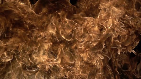 Cover Image for Fire on a Black Background