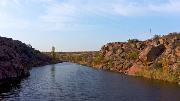 Thumbnail for A Stream Flowing Among Huge Stones in Picturesque Ukraine