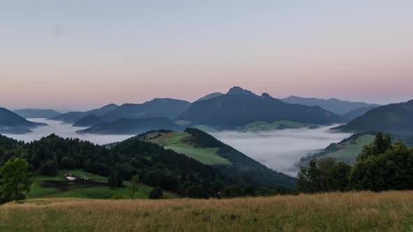 Thumbnail for Summer Sunrise over Mountains