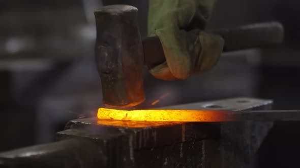 Thumbnail for Process of Forging Metal with Hammer