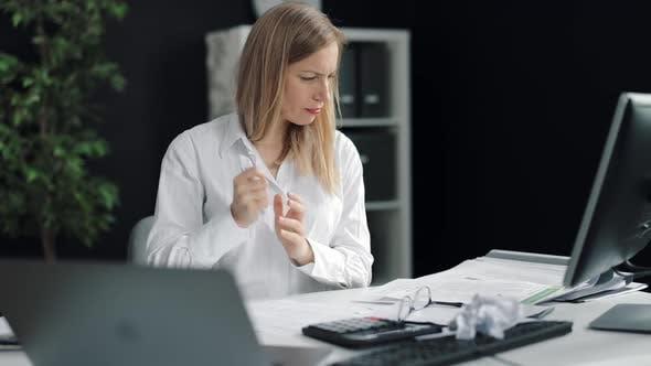 Upset Employer Throwing Crumpled Paper