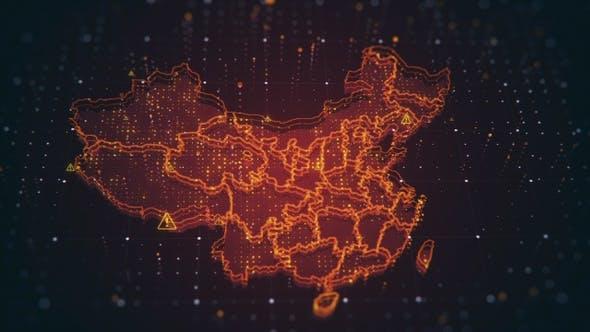 Thumbnail for China Danger Red Map 4 K