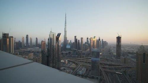 Tall Skyscrapers in Metropolitan City Center of Dubai