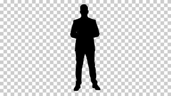Thumbnail for Silhouette Businessman, Alpha Channel