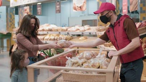 Buying Bread In Hypermarket