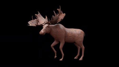 Wood Toy Moose