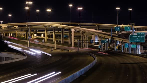 Thumbnail for Nightime timelapse of a freeway system in San Antonio, Texas.