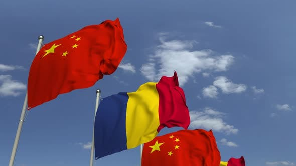 Flags of Romania and China