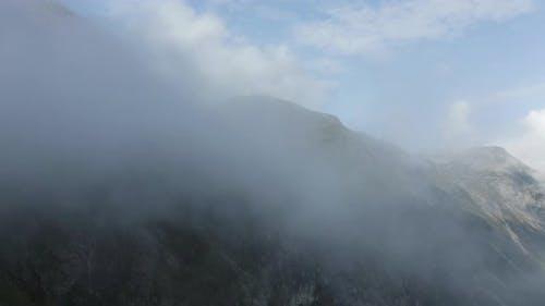 Mountains in the Clouds Near Trollstigen