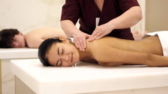 Thumbnail for Woman Enjoying Procedures in Hamam
