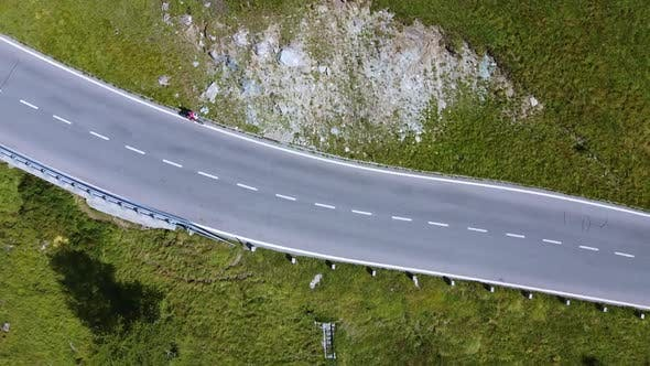 Aerial View of Roads with Green Environment on the Sides