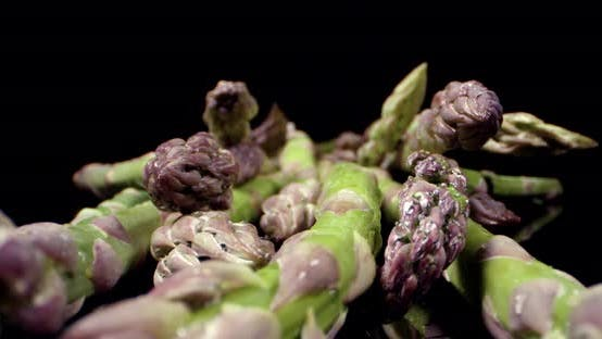 Thumbnail for Fresh Asparagus super close up macro view