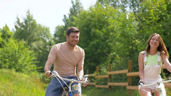 Thumbnail for Happy Friends Riding Fixed Gear Bicycles in Summer 4