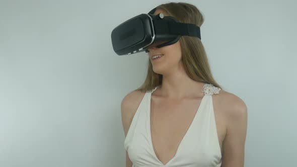 Thumbnail for Sexy Girl And Modern Technology Of Virtual Reality