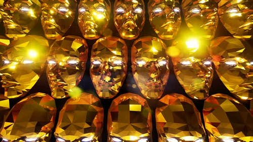 Gold Mask Background