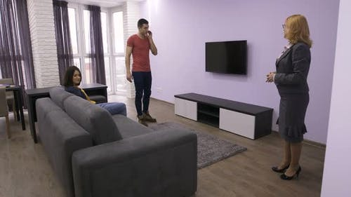 Professional Realtor Showing New Apartment