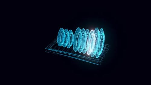 Dish Rack Hologram Rotating Hd