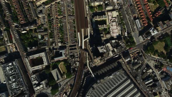 Thumbnail for Modern Architecture on Sunny Day in London, Crossing the River Thames and Passing Over the London